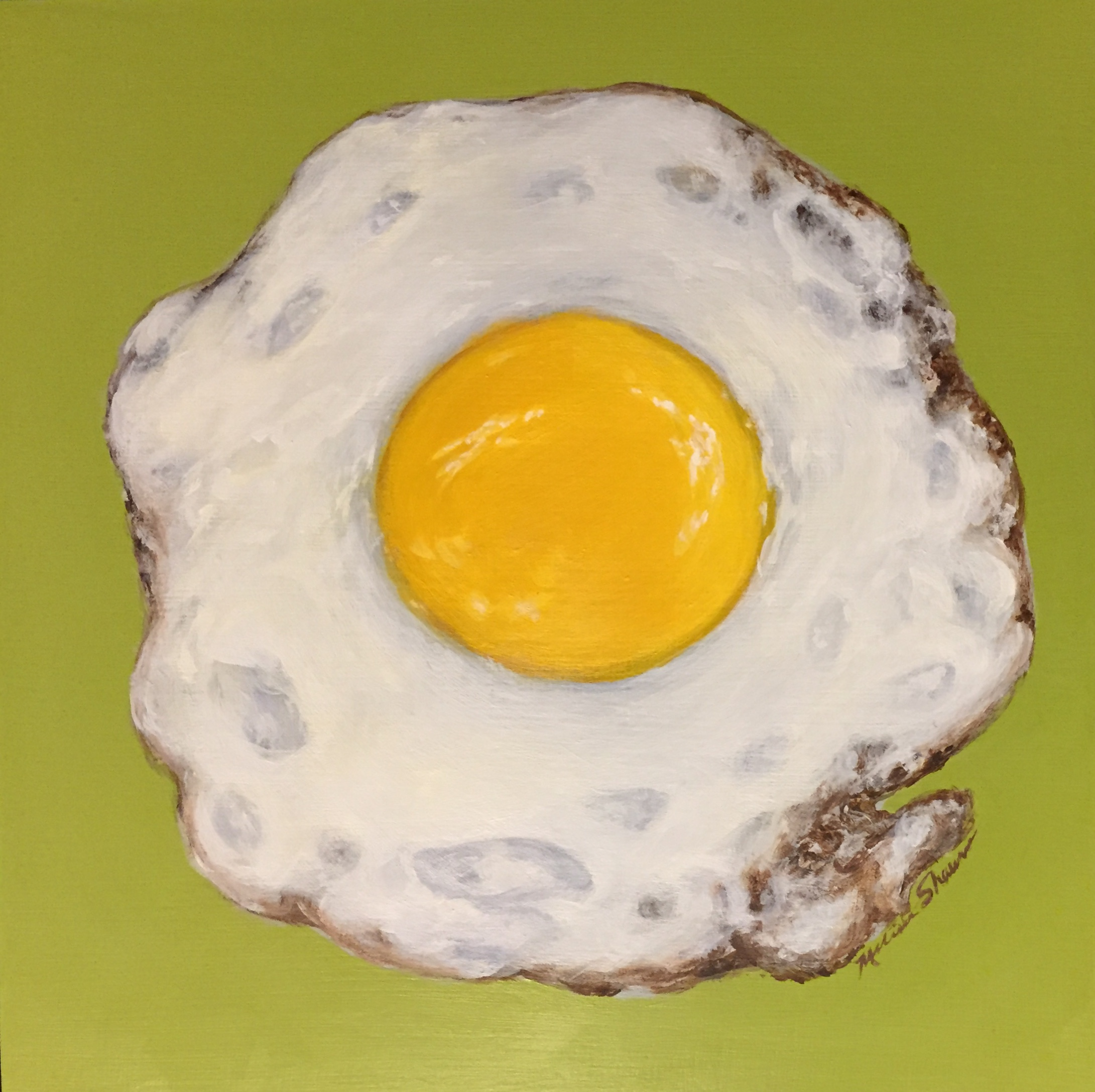 egg art, kitchen art, fried egg