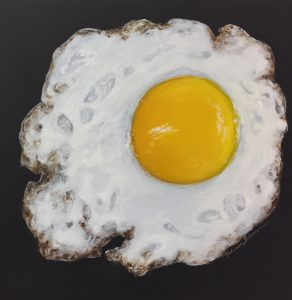 egg art, kitchen art, fried egg