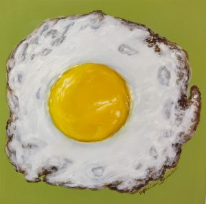 egg art, kitchen art, fried egg, food art, fine art
